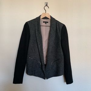 Ann Taylor Women's Grey Zipper Pocket Blazer